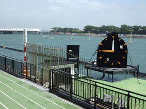 強風による水面悪化のため最終日が中止順延となった浜名湖ボート