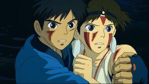 「生きる」とは何かを考えさせられる「もののけ姫」のアシタカ(左)とサン(C)1997 Studio Ghibli・ND