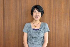 直木賞を受賞した澤田瞳子さん(カメラ・瀬戸 花音)