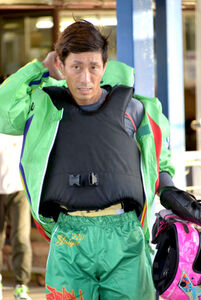 2日目6R、6コースからまくり差して勝利した原田幸哉