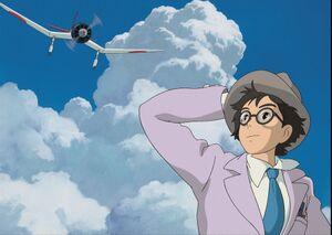 堀辰雄と堀越二郎氏をモデルにした「風立ちぬ」の堀越二郎(C)2013 Studio Ghibli・NDHDMTK