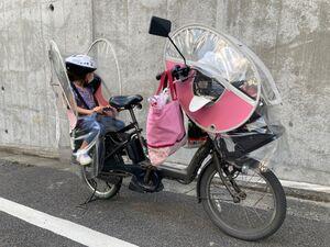 子どもを乗せるだけでなく、夕飯材料などの買い物類満載も子供を乗せた自転車の日常だ(写真はイメージで本文とは関係ありません)
