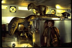 「クラシック・パーク」に登場するヴェロキラプトル(C)1993 Universal City Studios Inc.&Amblin Entertainment Inc.All Rights Reserved.