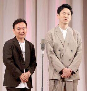 日本テレビの10月改編で自らが顔となる番組2本がスタートする「かまいたち」の山内健司(左)と濱家隆一