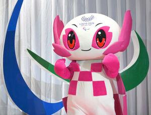 パラリンピックマスコットキャラクターの「ソメイティ」