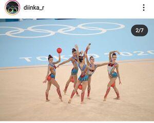 ディナラ・ラブシャヌベコワのインスタグラムより@diinka_r