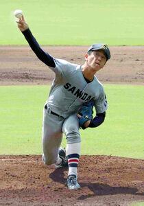 京産大・北山亘基は自己最速152キロをマークしたものの、6回2失点で敗戦投手となった