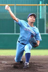 大阪ガスの河野佳は9回途中まで2失点と好投