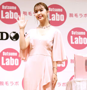 家庭用光美容器の新CM発表会に出席した藤田ニコル