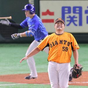 7回1死一塁、牧秀悟が勝ち越しとなる17号2ラン本塁打を放つ