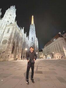 シュテファン大聖堂の前で