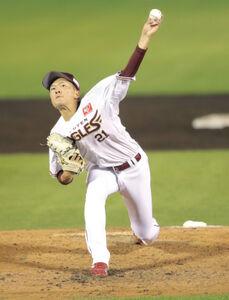 力投する楽天先発投手の早川隆久