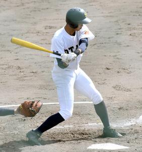 3安打3打点の活躍を見せた札幌大谷・丸山
