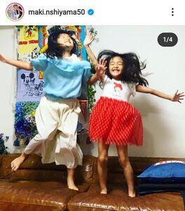 西山茉希のインスタグラム(@maki.nshiyama50)より