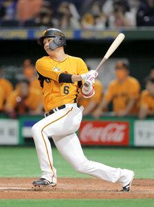 9回1死満塁、左前に同点適時打を放つ坂本(カメラ・相川 和寛)