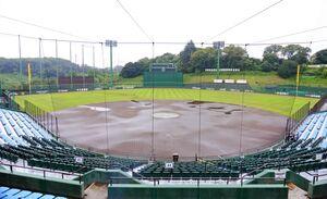 雨天中止のジャイアンツ球場