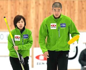 竹田智子(左)、竹田直将組