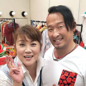 山田邦子とGHCヘビー級王者・丸藤正道