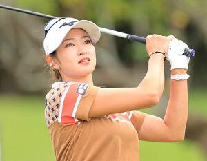 日本女子オープンで連覇を狙う原英莉花